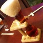 很特別的燒杯啤酒…….