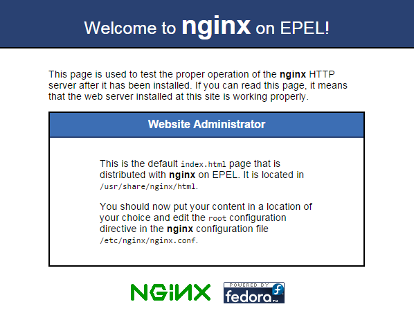 nginx-welcome